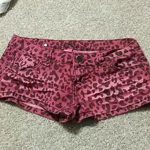 Pants - Leapord Print Shorts
